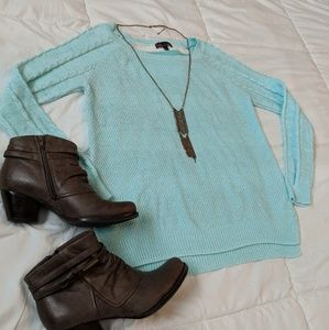 *3/$20* Heathered Turquoise High Low Sweater